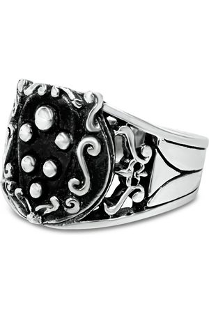 Men's Artisanal Sterling Silver De Medici - Oxidised Ring Girati