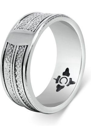 Men's Artisanal Sterling Silver Corda - Oxidised Ring Girati