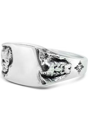 Men's Artisanal Sterling Silver Giano - Oxidised Ring Girati