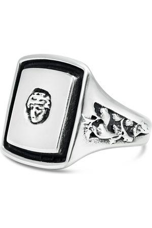 Men's Artisanal Sterling Silver Dionysos - Oxidised Ring Girati