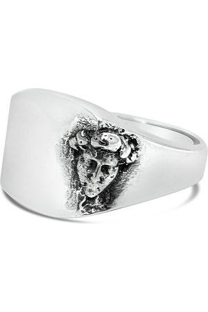 Men's Artisanal Sterling Silver David - Oxidised Ring Girati