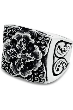 Men's Artisanal Sterling Silver Fiorello - Oxidised Ring Girati