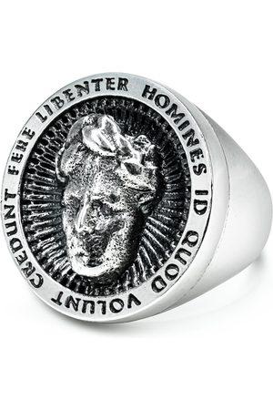 Men Rings - Men's Artisanal Sterling Silver Cesare - Oxidised Ring Girati