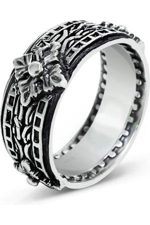 Men's Artisanal Sterling Silver Il Saggio - Oxidised Ring Girati