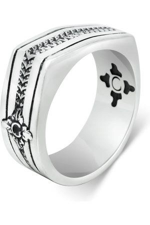 Men Rings - Men's Artisanal Sterling Silver Cerniera - Oxidised Ring Girati
