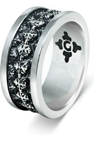Men's Artisanal Sterling Silver Roseto - Oxidised Ring Girati