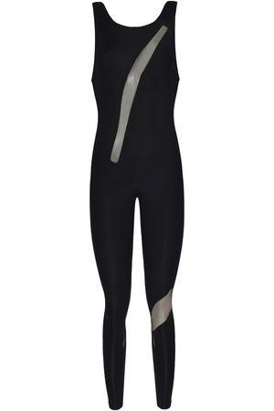 Women Jumpsuits - Women's Artisanal Black Fabric Yoga Jumpsuit Small RYDER ACT