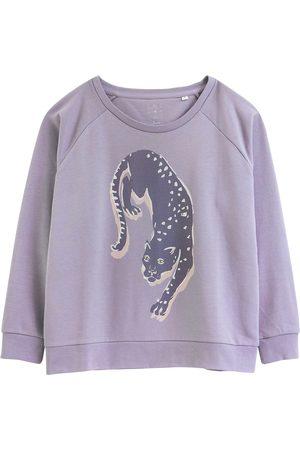 Women's Artisanal Grey Cotton Panthers Sustainable Sweatshirt Medium Anorak