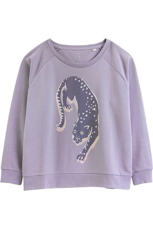 Women's Artisanal Grey Cotton Panthers Sustainable Sweatshirt XS Anorak
