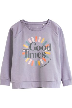 Women's Artisanal Grey Cotton Good Times Sustainable Sweatshirt Large Anorak