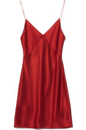Women Party Dresses - Women's Artisanal Red Kayden Mini Dress Medium Pradegal