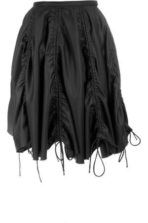 Women Asymmetrical Skirts - Women's Black Gathered Skirt 26in QUOD