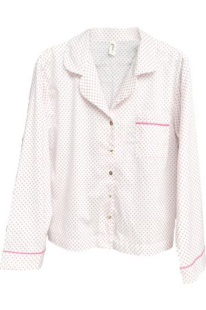 Women's White Cotton Organic Pyjama Shirt Large Eco Intimates