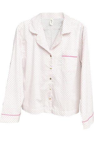 Women's White Cotton Organic Pyjama Shirt XL Eco Intimates