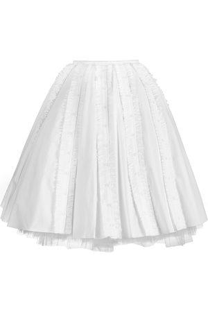Women's White Cotton Multi Placket Skirt 28in QUOD