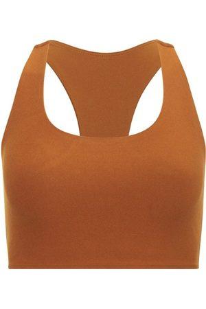 Women's Recycled Brown Fabric Yoga Top - Turmeric Medium Wolven