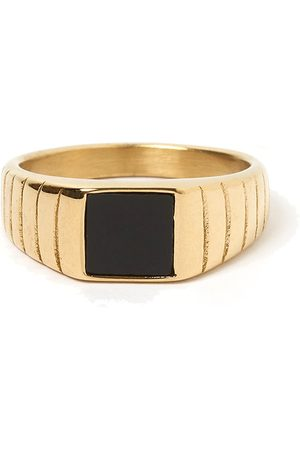 Women's Gold Cotton Yin Signet Ring ARMS OF EVE