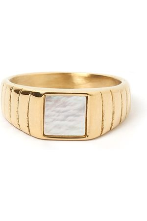 Women's Gold Cotton Yang Signet Ring ARMS OF EVE