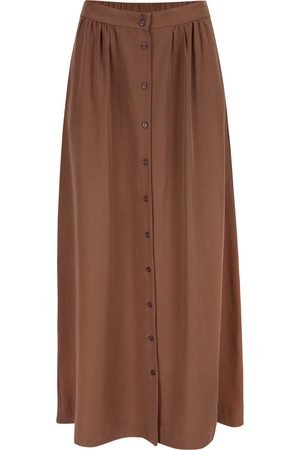 Women's Natural Fibres Brown Tencel Kreta Skirt Mokka Large Mon Col Anvers