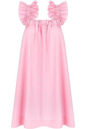 Women's Artisanal Pink Cotton Maya Candy Dress XL Monica Nera