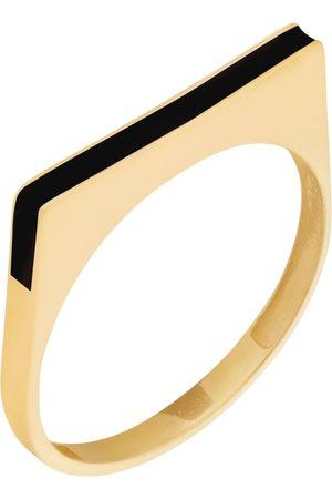 Women's Artisanal Rose Gold Runda 10K Gold Tranquil Moon Ring, Minimal Moon Dainty Ring Runda Jewelry