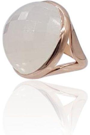 Women's White 18K Rose Gold Eclipse: Onyx Ring Eliza Bautista