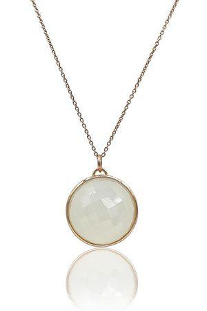 Women's 18K Rose Gold Eclipse: White Onyx Necklace Eliza Bautista