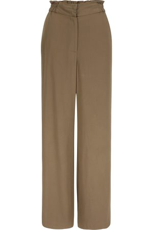 Women's Natural Fibres Brown Rocca Pants Stone Small Mon Col Anvers