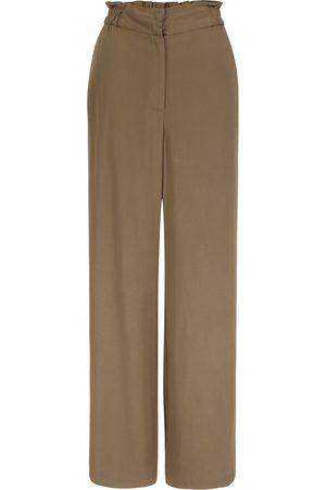 Women's Natural Fibres Brown Rocca Pants Stone XL Mon Col Anvers