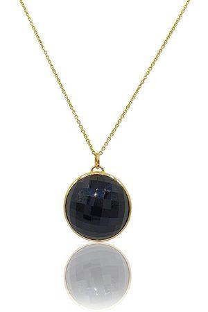 Women's Black Gold Vermeil Eclipse: Onyx Necklace Eliza Bautista
