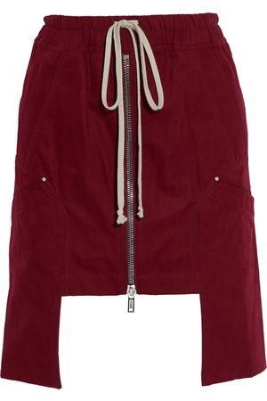 DRKSHDW BY RICK OWENS Woman Asymmetric Zip-detailed Cotton-twill Mini Skirt Plum Size M
