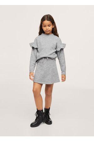 MANGO Flecked knit skirt