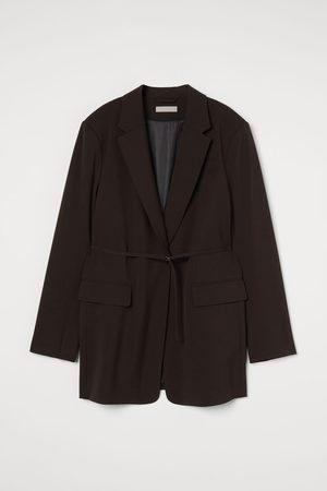 H&M Women Blazers - Belted Jacket