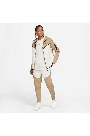 Nike Tech Fleece Taped Jogger Pants in Brown/Sandalwood Size X-Small Cotton/Polyester/Fleece