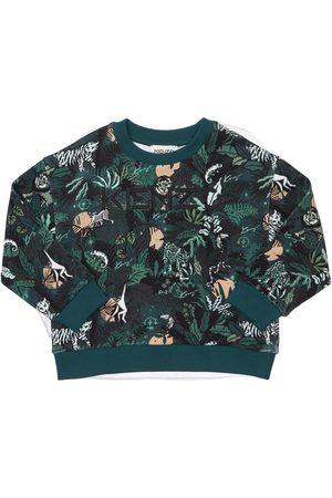 Kenzo Boys Sweatshirts - All Over Print Cotton Sweatshirt