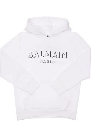 Balmain Printed Logo Cotton Sweatshirt