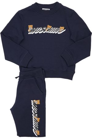 Moschino Girls Sweatpants - Logo Cotton Sweatshirt & Sweatpants