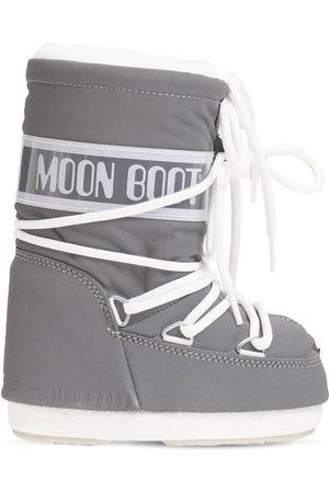 Moon Boot Boys Snow Boots - Reflective Nylon Snow Boots