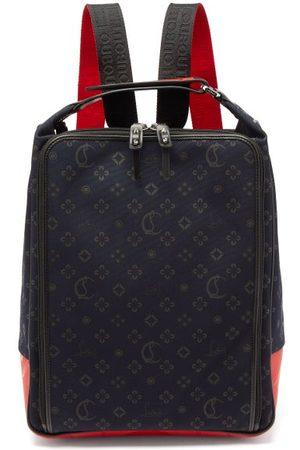 Christian Louboutin Hop'n'zip Monogram Print Canvas Backpack - Mens