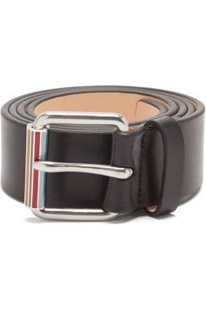 Paul Smith Men Belts - Signature-stripe Leather Belt - Mens