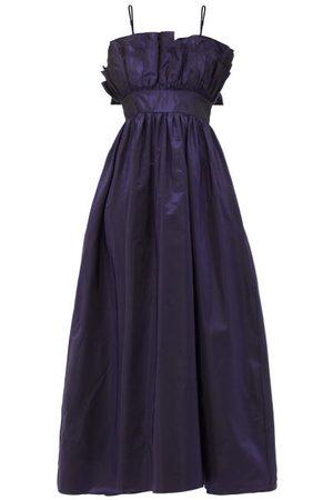 BATSHEVA Amara Iridescent Taffeta Dress - Womens - Dark