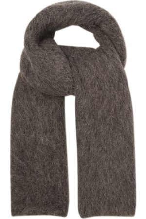 Totême Logo-label Alpaca-blend Scarf - Womens - Grey