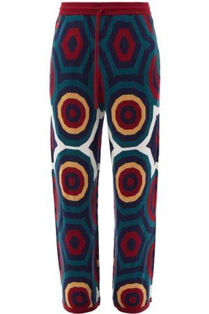 Charles Jeffrey Loverboy Hex Intarsia-wool Track Pants - Mens - Multi
