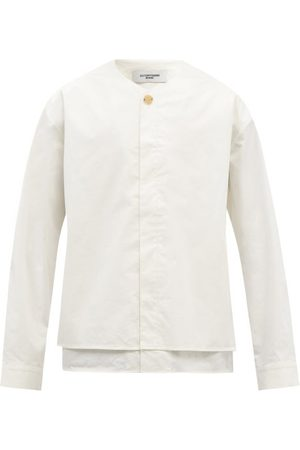 Le17septembre Homme Collarless Layered Cotton-blend Shirt - Mens