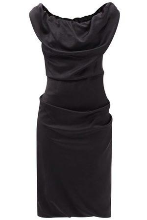 Vivienne Westwood Women Pencil Dresses - Ginnie Gathered-satin Pencil Dress - Womens