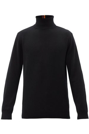 Paul Smith Artist-stripe Cashmere Roll-neck Sweater - Mens