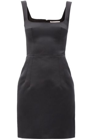Emilia Wickstead Salma Square-neck Satin Mini Dress - Womens