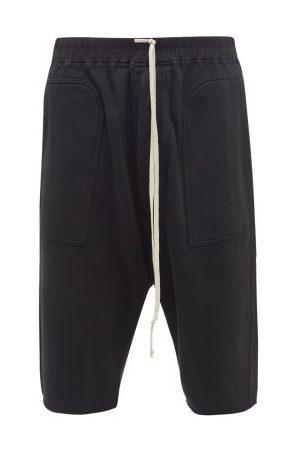 Rick Owens Bela Drawstring Cotton-jersey Shorts - Mens