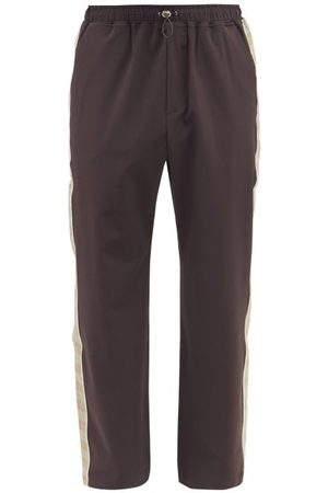 Ahluwalia Men Wide Leg Pants - Drawstring Upcycled-twill Wide-leg Trousers - Mens