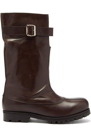 Stefan Cooke Tall Leather Biker Boots - Mens